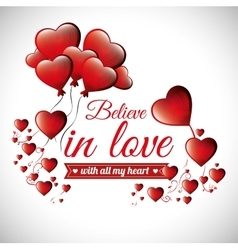 Postcard romantic valentines day believe in love vector