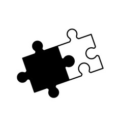 Puzzle solution collaboration monochrome vector