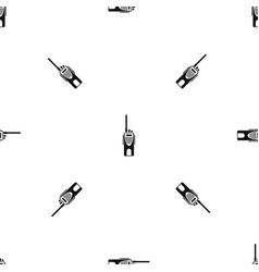 Radio transmitter pattern seamless black vector