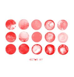 red blood circles set vector image