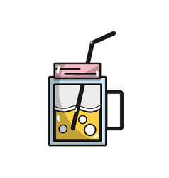 refreshment beverage to hot day in sun vector image