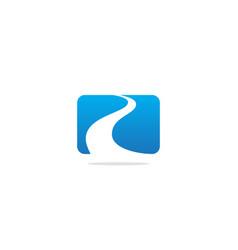 Road abstract logo vector