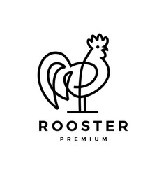 Rooster logo icon vector