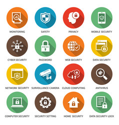 security icons for graphic and web design vector image