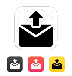 Sending mail icon vector image