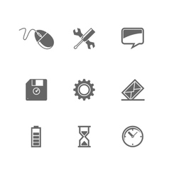 set icons for mobile devices and web site vector image