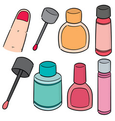 set of nail polish vector image