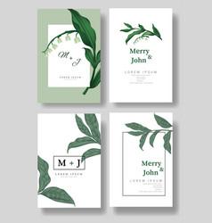 set wedding invitation cardsave date vector image