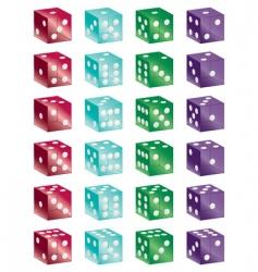shiny dice vector image