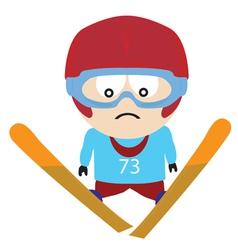ski jumper vector image