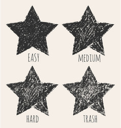 stars in a grunge style vector image