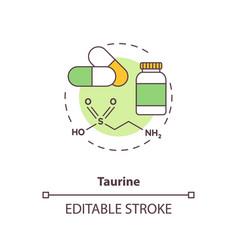 Taurine concept icon vector