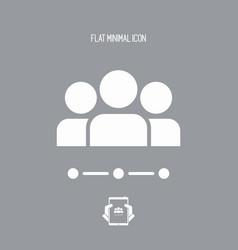 Team network - flat minimal icon vector