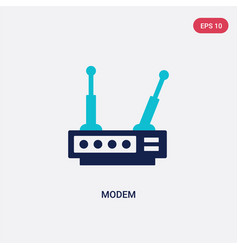two color modem icon from communication concept vector image