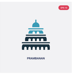 Two color prambanan icon from monuments concept vector