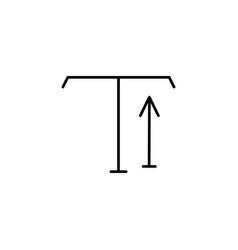 type tool up arrow icon vector image