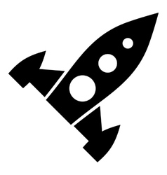 Universal rocket icon simple style vector