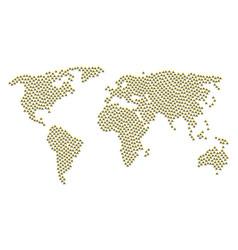 World atlas mosaic of christian church icons vector