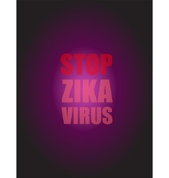 Zika Virus as a Danger Concept Art vector image