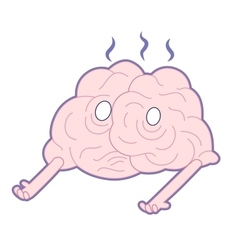 Am I alive Brain collection vector image