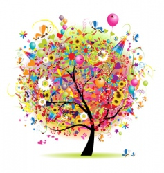 happy holiday scene vector image vector image
