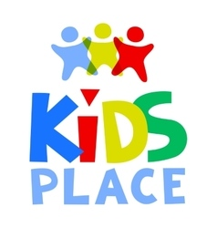 Kids Place Logo Template vector image vector image
