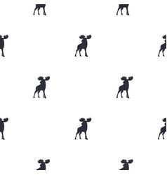 moose pattern wild animal symbols seamless vector image vector image