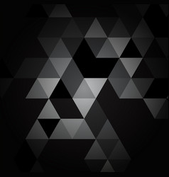 black and gray triangle pattern vector image vector image