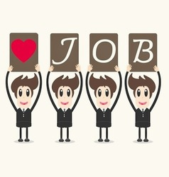 business man love job vector image vector image