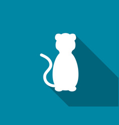 cat flat icon with long shadow lion vector image vector image
