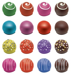 colorful candies vector image