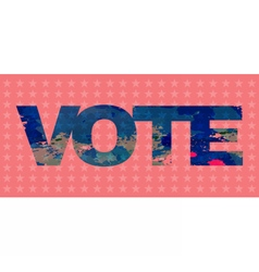 Digital election with vote and stars vector image