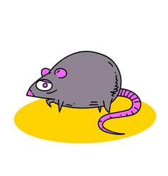 fat rat vector image vector image