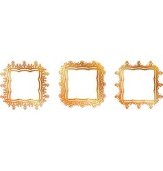 gold pattern frame vector image vector image