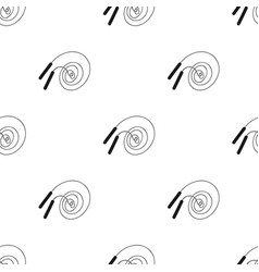 jump rope icon in black style isolated on white vector image