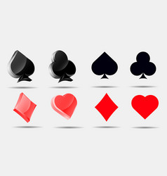 playing card symbols set pokers collection vector image vector image