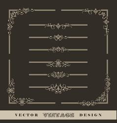 vintage calligraphic border vector image vector image