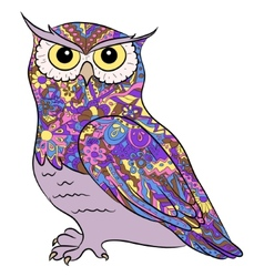 hand drawing owl vector image vector image