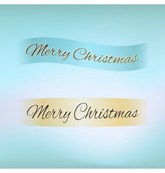 Merry Christmas ribbon vector image vector image