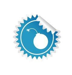 sticker of bomb blue vector image