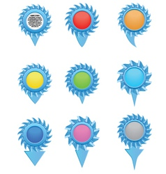 The icons and pointers vector image vector image