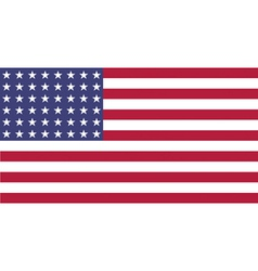 US Flag WWI WWII 48 stars Flat vector image