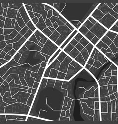 abstract black and white city map city vector image