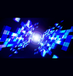 abstract technology blue dark background with vector image
