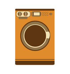 Aged silhouette with washing machine vector