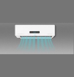 Air conditioner with cold wind effect eps 8 vector
