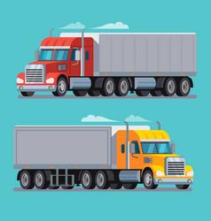 american truck trailer cargo transport vector image