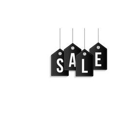 black friday sale banner sale tag hanging vector image