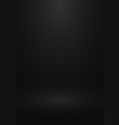 Black gradient studio background design of vector