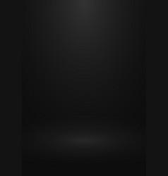 Black gradient studio background design vector